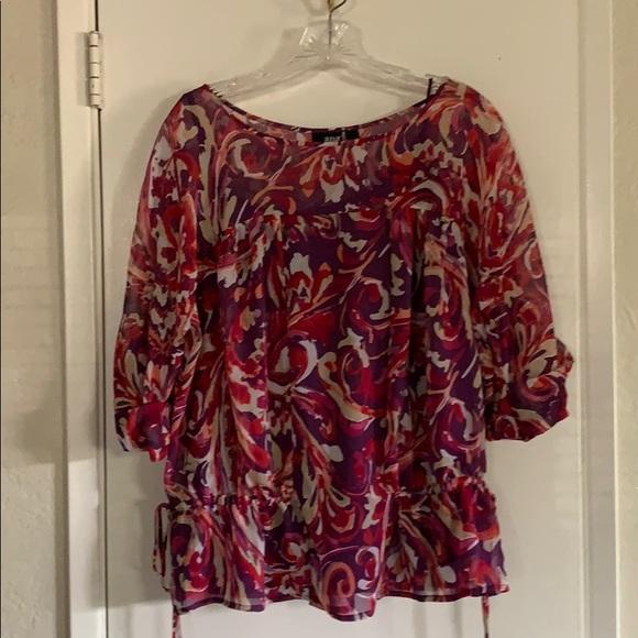 a.n.a Tops - Purple multi color blouse sz XL ANA brand